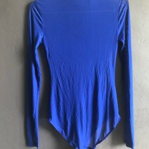 Forever 21 Tops - Blue Mesh Turtle Neck Long Sleeve